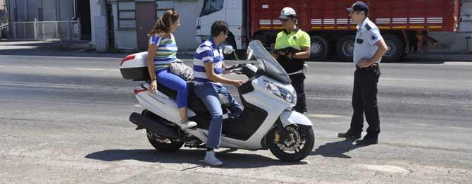 Motosiklet sürücülerine uygulama!