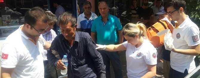 Kıbrıs Gazisine araba çarptı!