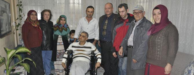 Engelli vatandaşa sandalye desteği!