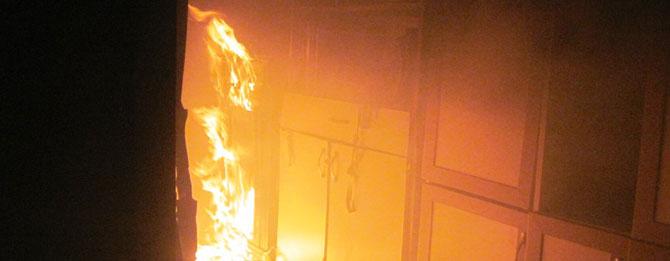 Apartmanda yangın paniği!