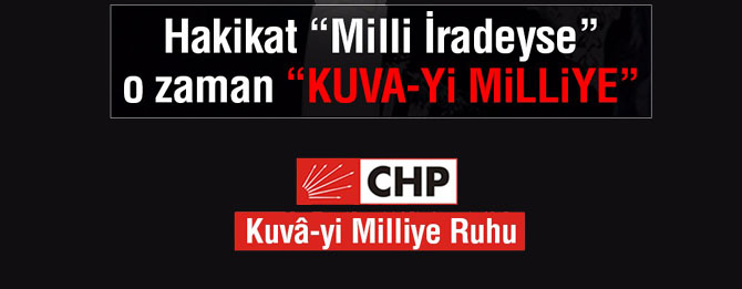 CHP'yi küllerinden doğuracak adım