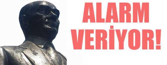 Atatürk büstü alarm veriyor!
