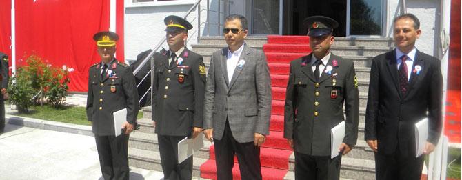 Muratlı Jandarma Komutanı Çidem Ödül Aldı
