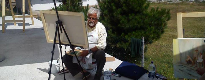 Ressam Akan Uluslar Arası Sanat Festivali'ne Katıldı