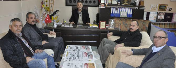 MHP İlçe Teşkilatı'ndan Gazetemizi Ziyaret