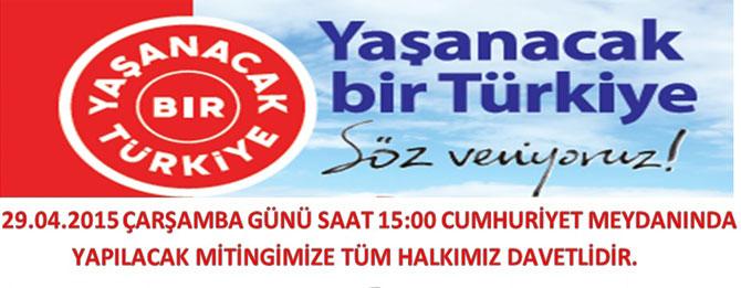 CHP MURATLI ÖRGÜTÜ'NDEN MİTİNGE DAVET