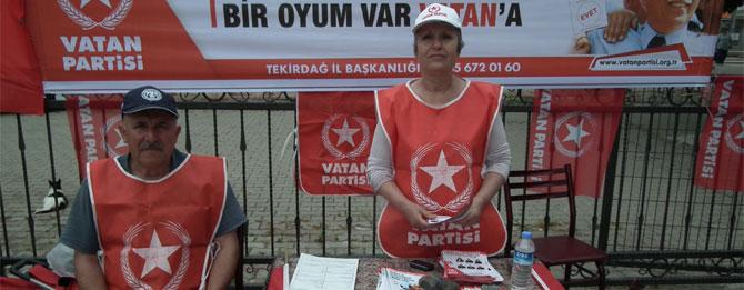 Vatan Partisi seçim standı açtı
