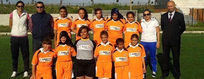 Bayan futbol takımımız hazırlık maçında